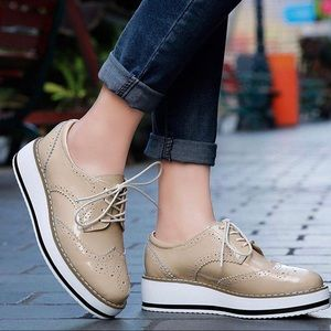 Shoes - 👞🍂 🇬🇧 Beige Oxford Brogues